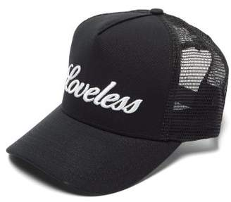 Amiri Loveless-embroidered Canvas Cap - Mens - Black