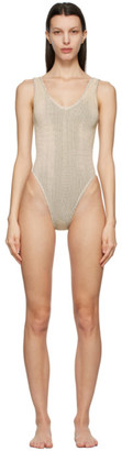 BOUND by Bond-Eye Yellow and Black The Mara One-Piece Swimsuit