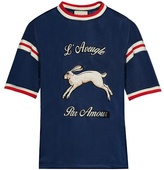 Gucci Hare-appliqué Mesh T-shirt