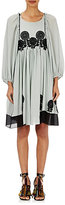 Chloé Women's Plissé Crepe Long-Sleeve Dress