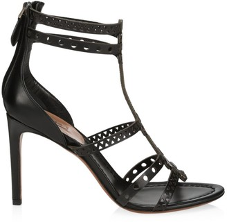 Alaia Lasercut Leather Sandals