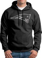 Sarah Men's New England Patriots Platinum Logo Hoodie L