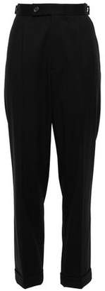 Helmut Lang Button-detailed Wool Tapered Pants