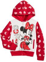 Disney Disney's Minnie Mouse Fleece Hoodie, Little Girls (2-6X) & Toddler Girls (2T-5T)