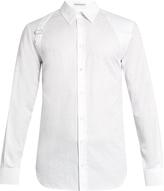 Alexander McQueen Harness leopard-jacquard long-sleeved shirt