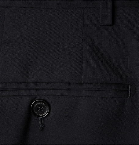 Burberry Blue Virgin Wool Trousers