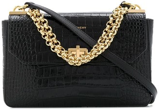 Givenchy Crocodile Embossed Crossbody Bag