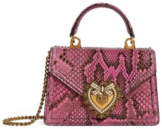 Dolce & Gabbana Small Snakeskin Devotion Shoulder Bag