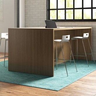 "Steelcase Campfire Rectangular Conference Table Finish: Virginia Walnut, Size: 28"" H x 96"" W x 48"" D"
