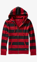 Striped Fleece Zip Hoodie