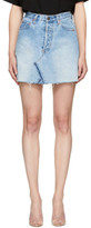 RE/DONE Re-done Blue Levis Edition Denim High-rise Miniskirt