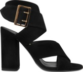 Burberry Blaine cross front suede sandal