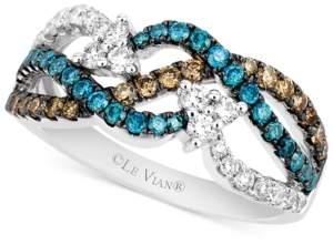 LeVian Le Vian Exotics Diamond Woven Ring (7/8 ct. t.w.) in 14k White Gold