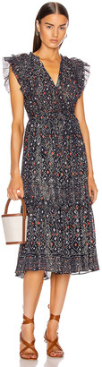 Ulla Johnson Linnea Dress in Navy | FWRD