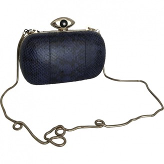 Diane von Furstenberg \N Blue Leather Clutch bags