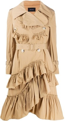 Simone Rocha Ruffle Trim Trench Coat