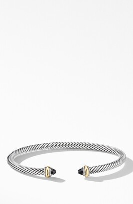 David Yurman 4mm Cable Classic Bracelet with 18K Gold & Semiprecious Stones
