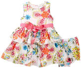 Laura Ashley Sleeveless Print Dress (Baby Girls)