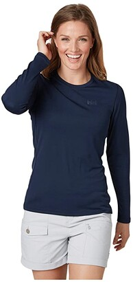 Helly Hansen Lifa Active Solen Long Sleeve (Navy) Women's Clothing