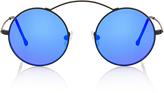 Spektre Met-ro Blue Round-Frame Stainless Steel Sunglasses