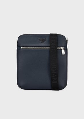 Emporio Armani Small, Flat Shoulder Bag With Logo Plate