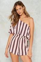 Nasty Gal End of the Line Striped Romper