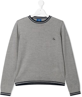 Fay Kids TEEN logo embroidered jumper