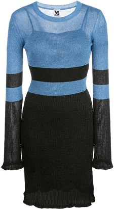 M Missoni Glittered Ribbed-Knit Mini Dress