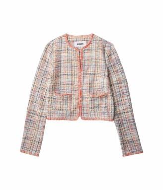 BB Dakota Women's Neon Belief Multi color Tweed Jacket LG (US 10-12)