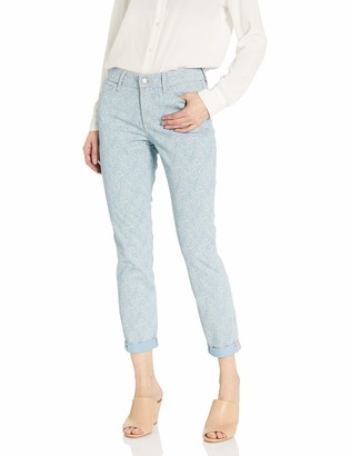 NYDJ Women's Rachel Rolled Cuff Ankle Jeans in Printed Denim