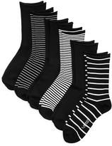 Ralph Lauren Stripe Roll-Top Trouser Socks, Set of 6
