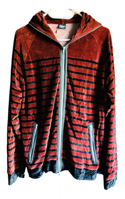Jean Paul Gaultier Burgundy Velvet Leather jackets