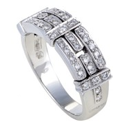 Chimento 18K White Gold and Diamond Band Ring Size 7.5