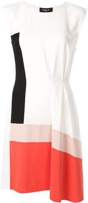 Paule Ka colour-block flared dress