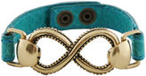 Barse FINE JEWELRY Art Smith by Infinity Aqua Leather Bracelet