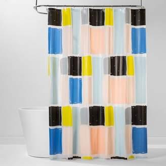 Room Essentials PEVA Shower Curtain Colorblock