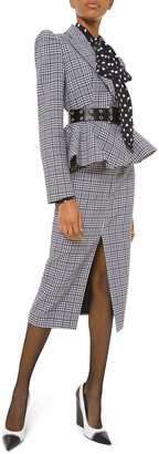 Michael Kors Plaid Peplum Jacket