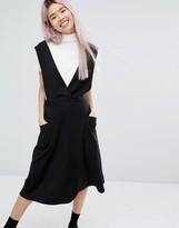 Monki Wrap Front Midi Dress