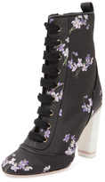 RED Valentino Floral Canvas Bootie