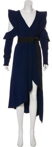 Self-Portrait Cold-Shoulder Midi Dress