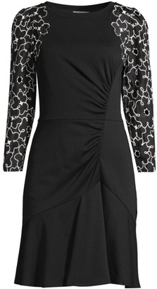 Rebecca Taylor Tai Floral Embroidered Dress