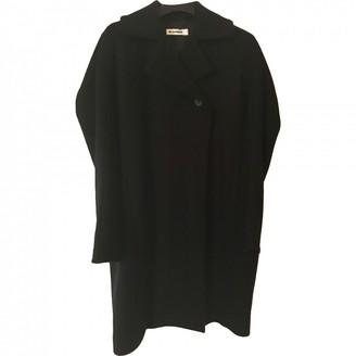 Jil Sander Navy Wool Coat for Women
