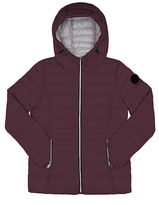 Point Zero Wine Hooded Puffer Jacket
