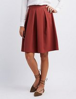 Charlotte Russe Pleated Full Midi Skirt