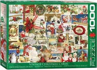 Eurographics Vintage Christmas Cards 1000-Piece Jigsaw Puzzle Set