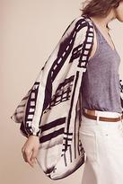 Anthropologie Graphic Dolman-Sleeve Kimono