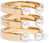 Chloé Darcey Gold-plated Swarovski Pearl Ring - 52