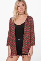 Boohoo Sally Stripe Pattern Kimono