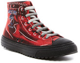 Moschino Etched Design Hi-Top Sneaker