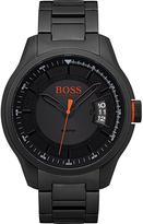 Hugo Boss Hugo Boss Orange Hong Kong Sport Blue Dial Black IP Bracelet Mens Watch
